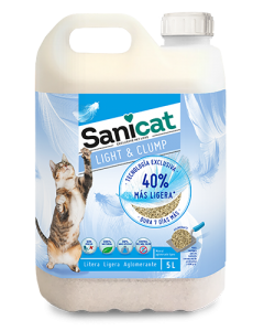 Sanicat Light & Clump Arena Aglomerante 5l